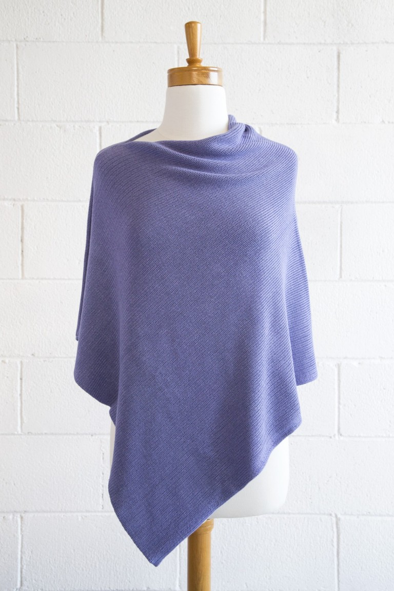 Periwinkle Bamboo Poncho