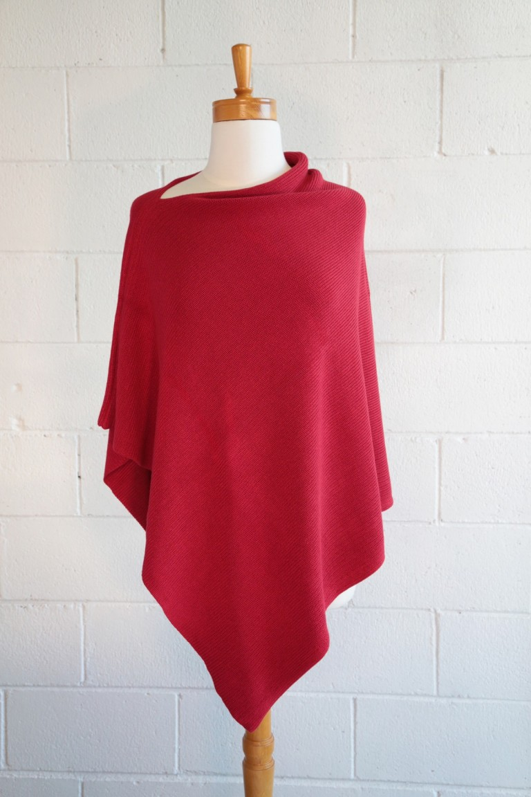 Red  Bamboo  poncho